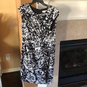 Black and white dress barn dress